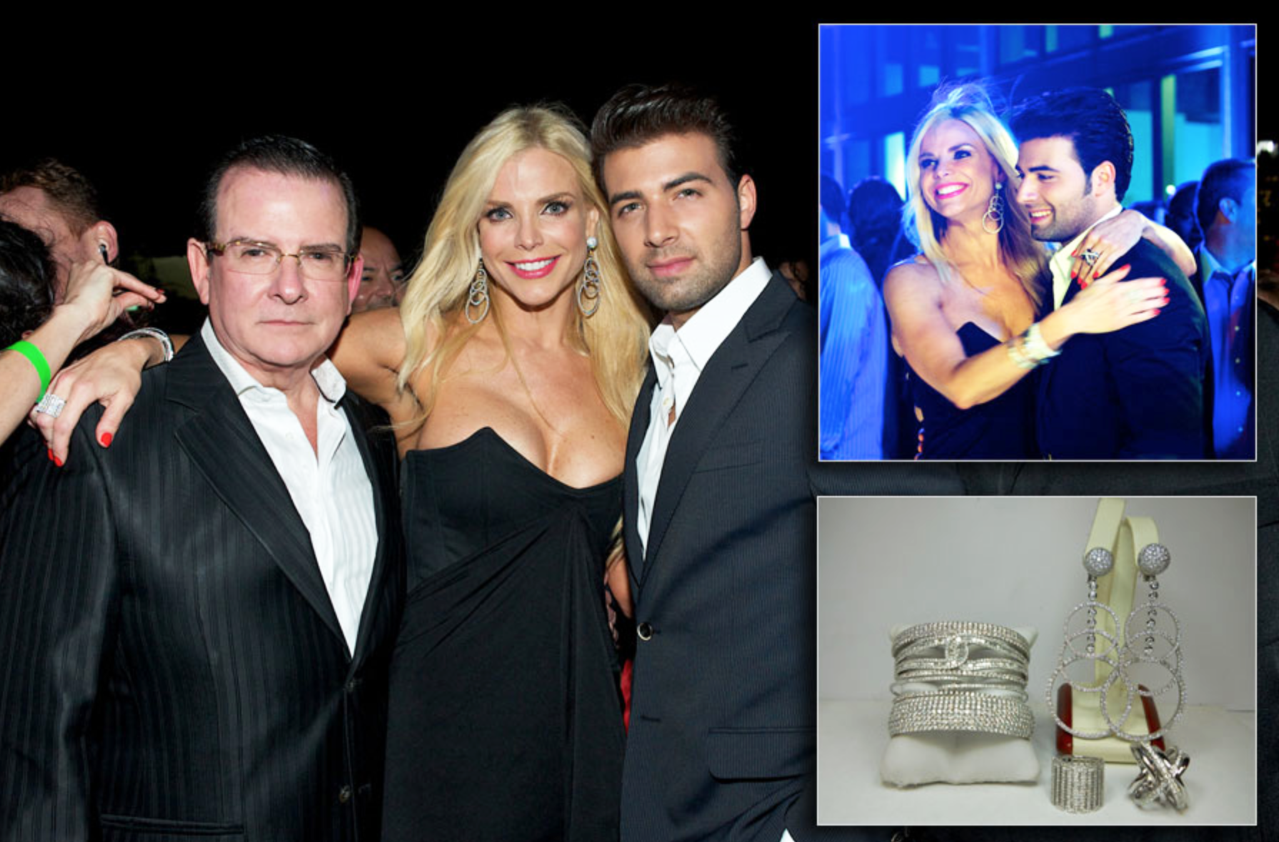 Alexia Echevarria dazzles at the Venue Cover Party in 40 carats of diamond jewelry featuring dramatic 'Circles Drop Earrings' and stacked diamond cuff bracelets.