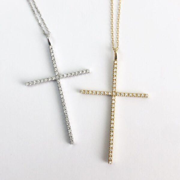 "2"" Diamond Cross"